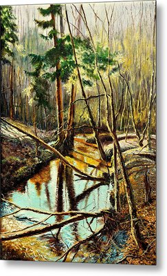 Lubianka-1- River Metal Print by Henryk Gorecki
