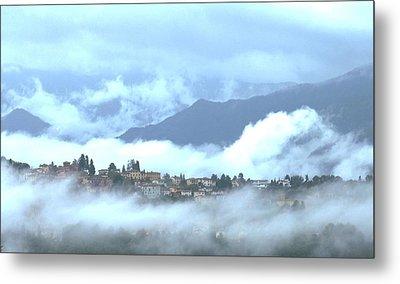 Lucca In The Fog Metal Print by Winston Moran