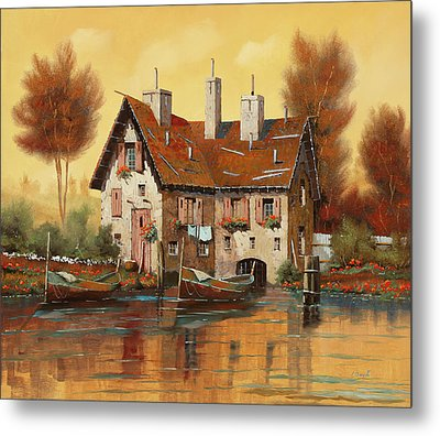 Luce Gialla Metal Print by Guido Borelli
