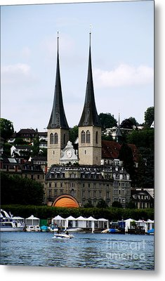 Lucerne Cathedral Metal Print by Pravine Chester