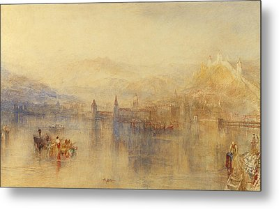 Lucerne From The Lake Metal Print