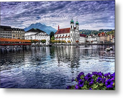 Lucerne In Switzerland  Metal Print