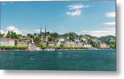 Metal Print featuring the photograph Lucerne Panorama by Wolfgang Vogt