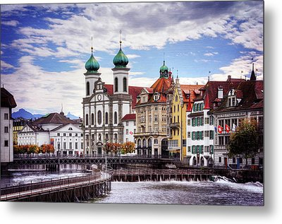 Metal Print featuring the photograph Lucerne Switzerland  by Carol Japp
