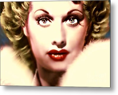 Lucille Golden Years Metal Print