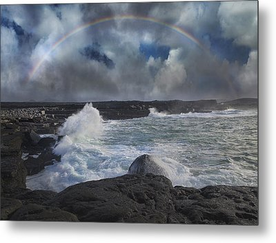 Luck Of The Irish Inis Mor Metal Print by Betsy Knapp