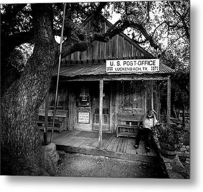 Metal Print featuring the photograph Luckenbach Texas by David Morefield