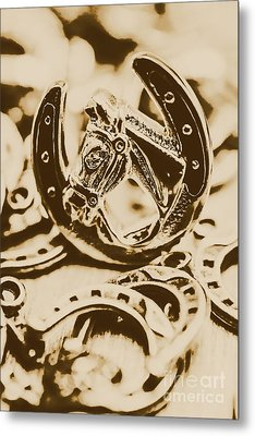 Lucky Cowboys Charm Metal Print by Jorgo Photography - Wall Art Gallery