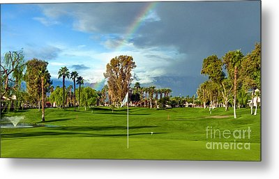 Lucky Golf Day Metal Print by David Zanzinger