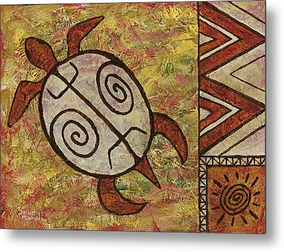 Metal Print featuring the painting Lucky Honu by Darice Machel McGuire