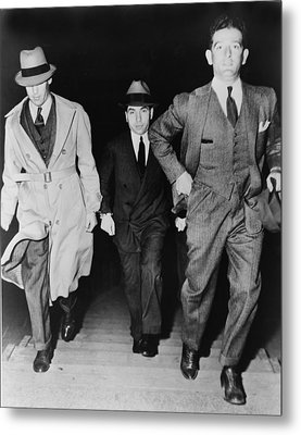 Lucky Luciano 1896-1962, Being Escorted Metal Print by Everett