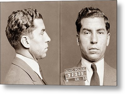 Lucky Luciano Mugshot Metal Print