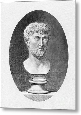 Lucretius (96 B.c.?-55 B.c.) Metal Print by Granger