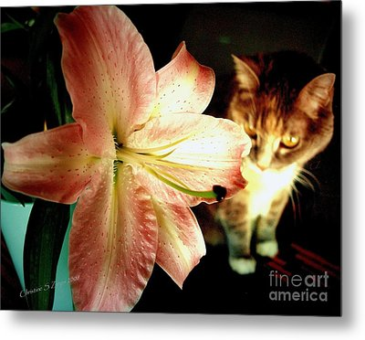 Lucy With Lily Metal Print