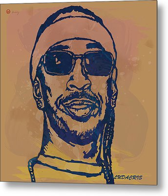 Ludacris Pop Stylised Art Sketch Poster Metal Print by Kim Wang