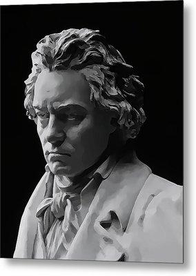 Metal Print featuring the mixed media Ludwig Van Beethoven by Daniel Hagerman