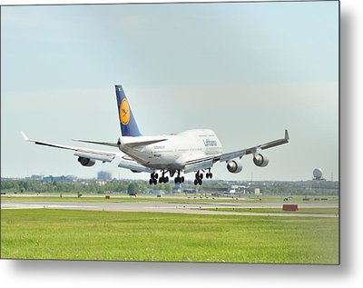 Lufthansa Airlines 747 Metal Print by Puzzles Shum