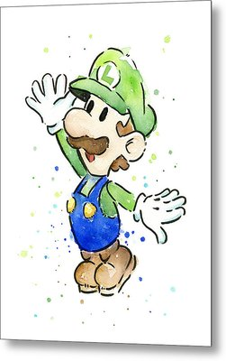 Luigi Watercolor Metal Print by Olga Shvartsur