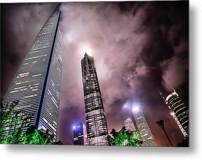 Lujiazui Metal Print by Andy Brandl