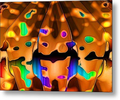 Metal Print featuring the digital art Luminence by Ron Bissett