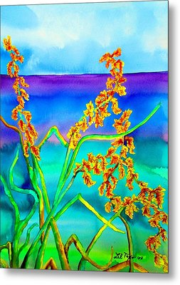 Metal Print featuring the painting Luminous Oats by Lil Taylor