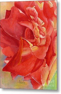 Luminous Rose Metal Print by Mohamed Hirji