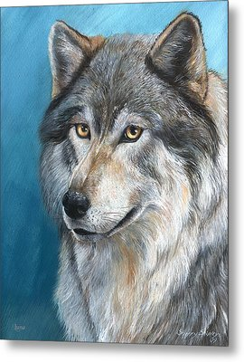 Metal Print featuring the painting Luna by Sherry Shipley