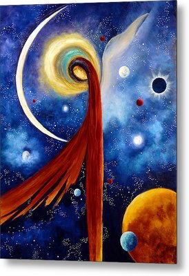 Metal Print featuring the painting Lunar Angel by Marina Petro