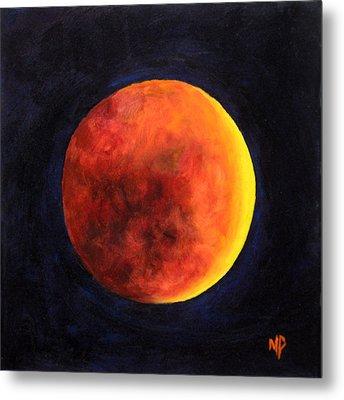 Lunar Eclipse Metal Print by Marina Petro