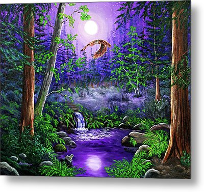 Luna's Flight Metal Print