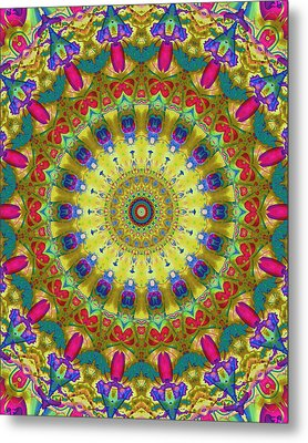 Lunch At The Eighteen Roses Sidewalk Cafe Metal Print by Myxtl Turnipseed