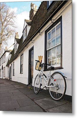 Metal Print featuring the photograph Lunch French Style By Bicycle In Cambridge by Gill Billington