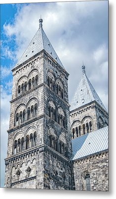 Metal Print featuring the photograph Lund Cathedral In Sweden by Antony McAulay