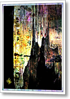 Luray Cavern Abstract 2 Metal Print by Lynda Payton