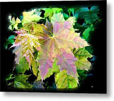 Metal Print featuring the mixed media Lush Spring Foliage by Will Borden