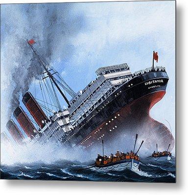 Lusitania Metal Print by Mike Tregenza