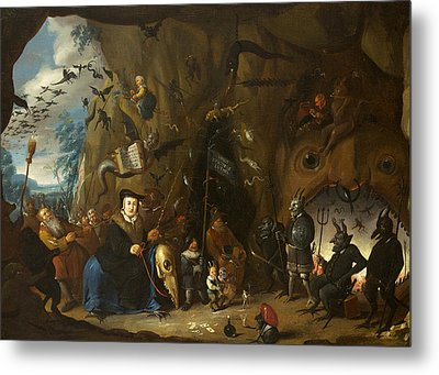 Luther In Hell Metal Print