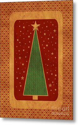 Luxurious Christmas Card Metal Print