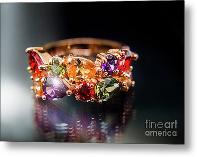 Luxury Gemstone Fine Jewelry Rings Metal Print