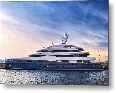 Luxury Yacht Metal Print by Elena Elisseeva