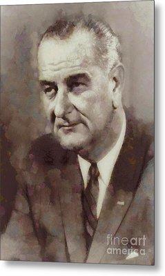 Lyndon B. Johnson, President Of The United States By Sarah Kirk Metal Print
