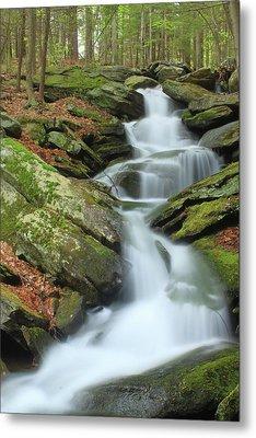 Lynnes Falls New England National Scenic Trai Metal Print by John Burk