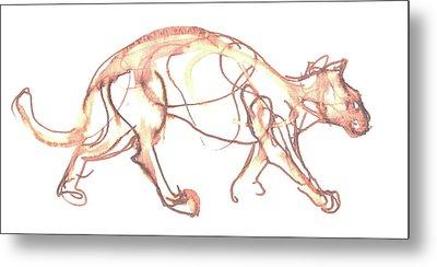 Lynx Metal Print by Deborah Dendler