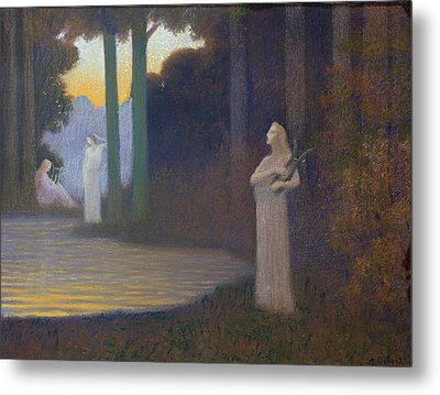 Lyricism In The Forest Metal Print by Alphonse Osbert