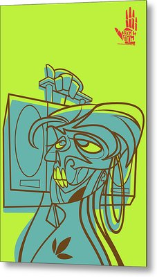 Lyte Skeleto Metal Print by Nelson Garcia