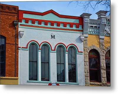 M Building Metal Print by Jan Amiss Photography