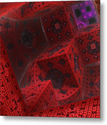 Metal Print featuring the digital art M Cubed by Lyle Hatch