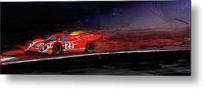 M Mcfly Racing Metal Print by Alan Greene