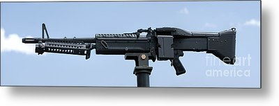 M60 Machine Gun Metal Print