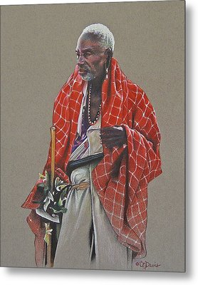 Maasai Mzee Metal Print by Cindy Davis